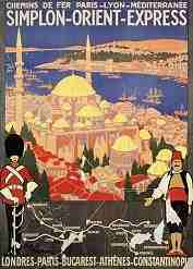 old advertising of Orient Express to Istanbul